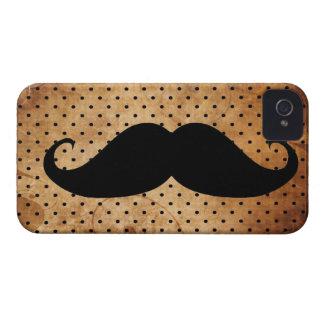 Bigote negro divertido Case-Mate iPhone 4 protectores