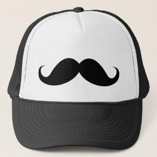 Bigote negro divertido del bigote del manillar gorra de camionero