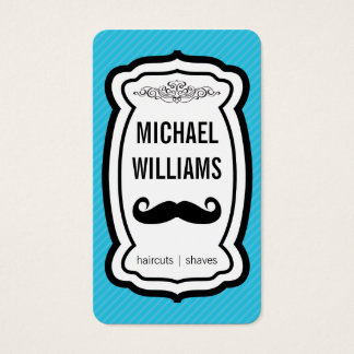 Bigote/rayas (azules) tarjeta de negocios