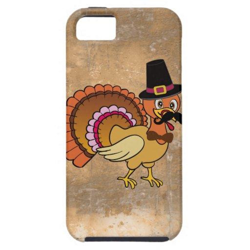 Bigote Turquía de la acción de gracias iPhone 5 Carcasa