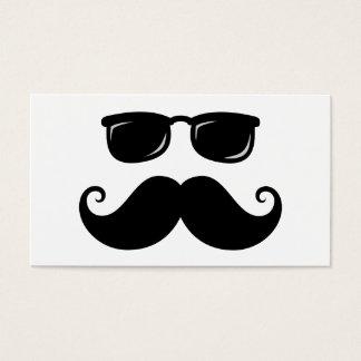 Bigote y cara divertidos de las gafas de sol tarjeta de negocios