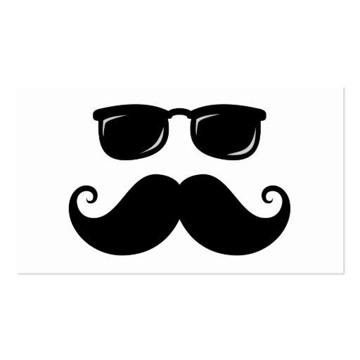 Bigote y cara divertidos de las gafas de sol tarjetas personales