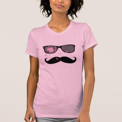 Bigote y gafas de sol divertidos camisetas