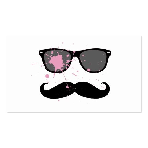 Bigote y gafas de sol divertidos plantillas de tarjeta de negocio