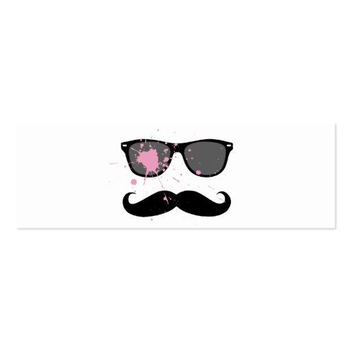 Bigote y gafas de sol divertidos tarjeta de negocio
