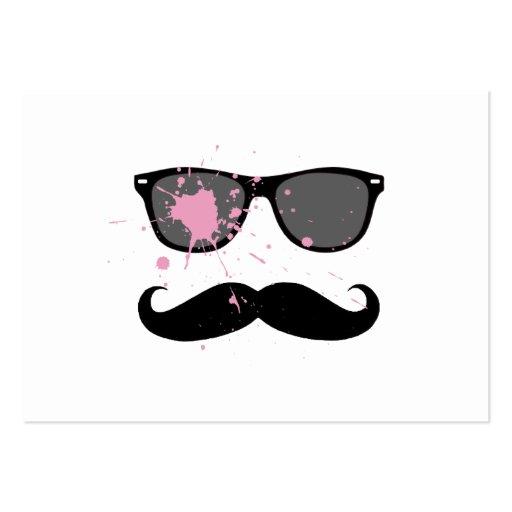 Bigote y gafas de sol divertidos tarjetas de visita