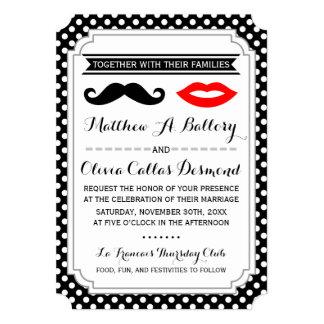 Bigote y labios que casan invitaciones
