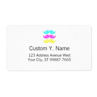 Bigotes de CMY (estilo de la prensa de copiar) Etiquetas De Envío