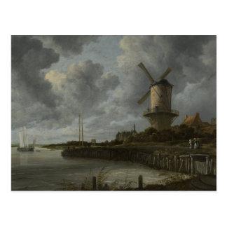 Bij holandés Duustede, Ruisdael de Wijk del molino Postal