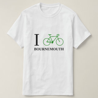 Bike BOURNEMOUTH (el icono verde de la bicicleta) Camiseta