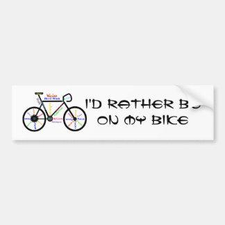Biking bastante el deporte - el Biking, completand Pegatina Para Coche