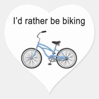 Biking bastante - gran sentimiento y diseñar pegatina de corazón personalizadas