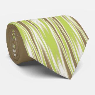 Bilateral de color caqui del zigzag abstracto del corbata