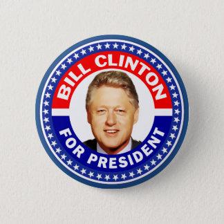 Bill Clinton para el presidente Chapa Redonda De 5 Cm