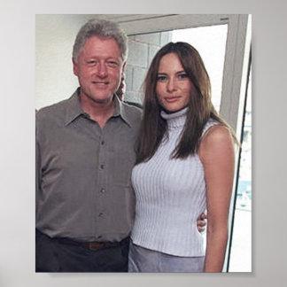 Bill Clinton y el triunfo de Melania en los 2000 Póster