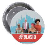 Bill de Blasio para el alcalde de NYC en 2013 Chapa Redonda 7 Cm