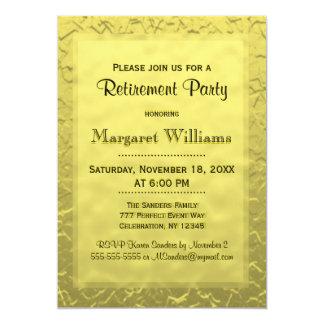 Billete de grupo de oro de retiro el | invitación 12,7 x 17,8 cm