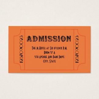Billetes de grupo del tema del bar de los años 20 tarjeta de negocios
