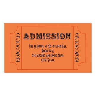 Billetes de grupo del tema del bar de los años 20 tarjetas de visita