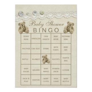 Bingo adaptable pre llenado de la fiesta de invitación 16,5 x 22,2 cm