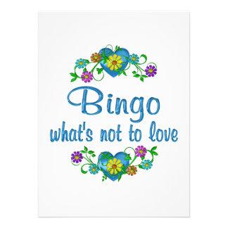 Bingo al amor comunicados