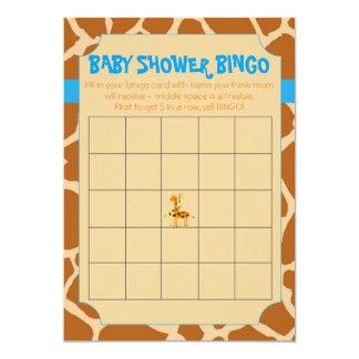 Bingo azul y anaranjado de la fiesta de bienvenida invitación 12,7 x 17,8 cm
