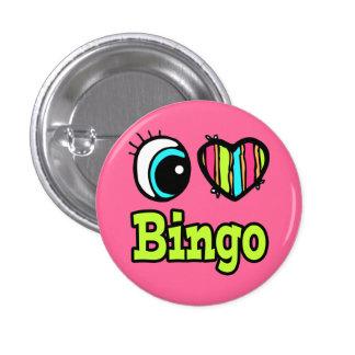 Bingo brillante del amor del corazón I del ojo Chapa Redonda De 2,5 Cm