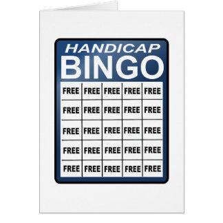 Bingo de la desventaja tarjeta de felicitación