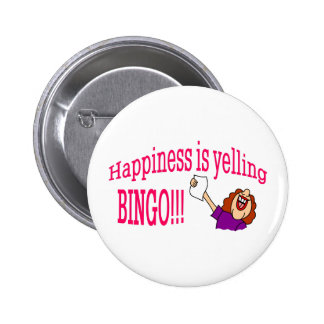 Bingo de la felicidad chapa redonda de 5 cm