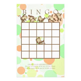Bingo de la fiesta de bienvenida al bebé de la papelería
