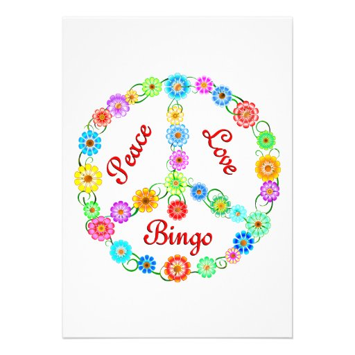 Bingo del amor de la paz anuncio