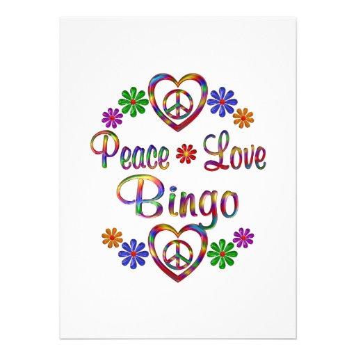 Bingo del amor de la paz anuncios