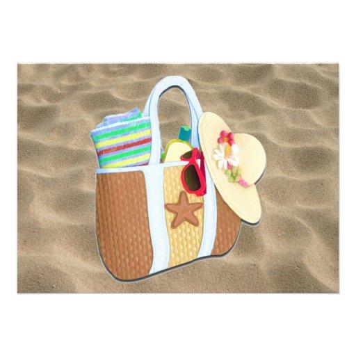 Bingo del bolso de la playa anuncios