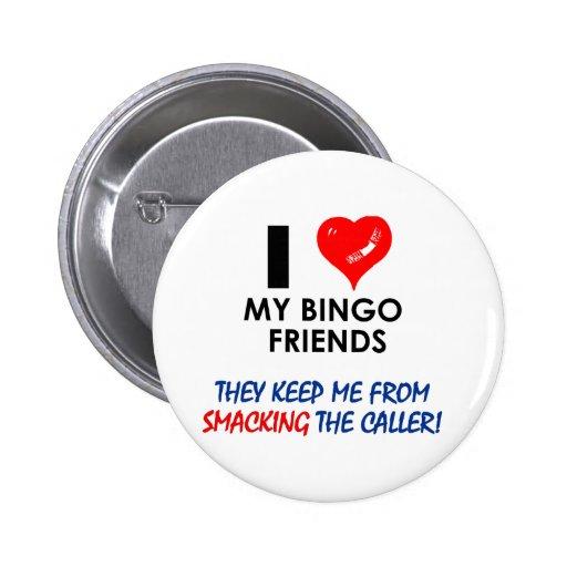 ¡BINGO! ¡Diseños del bingo para el jugador fabulos Pin
