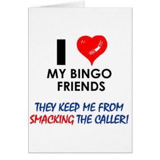 ¡BINGO ¡Diseños del bingo para el jugador fabulos Felicitación