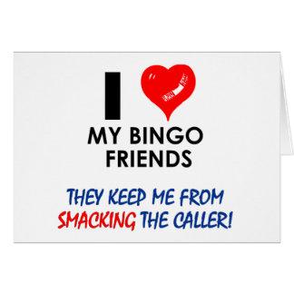 ¡BINGO! ¡Diseños del bingo para el jugador fabulos Tarjeta De Felicitación