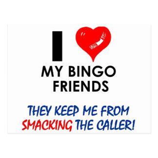 ¡BINGO ¡Diseños del bingo para el jugador fabulos Postales