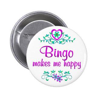 Bingo feliz chapa redonda de 5 cm