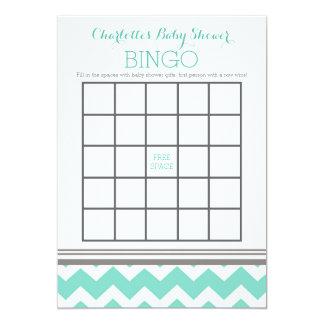 Bingo gris de la fiesta de bienvenida al bebé de invitación 12,7 x 17,8 cm