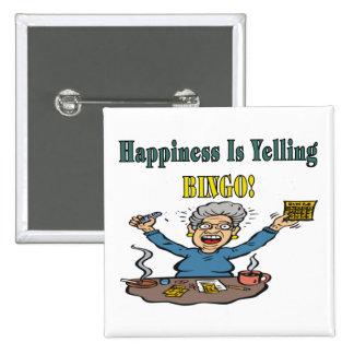 Bingo: La felicidad es Chapa Cuadrada 5 Cm