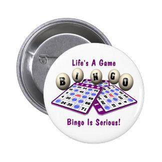 Bingo: La vida es un juego Chapa Redonda De 5 Cm