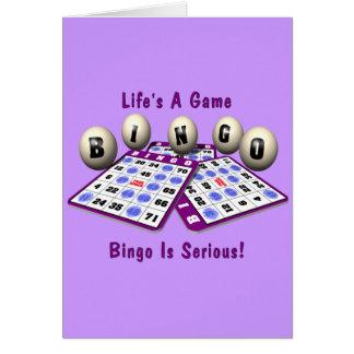Bingo: La vida es un juego Tarjeta De Felicitación