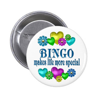 Bingo más especial chapa redonda 5 cm