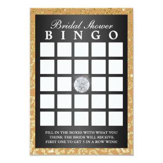 Bingo moderno del bingo del estampado leopardo invitación 8,9 x 12,7 cm