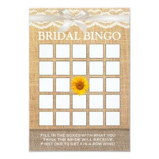 Bingo nupcial de la ducha de la cinta de la invitación 8,9 x 12,7 cm