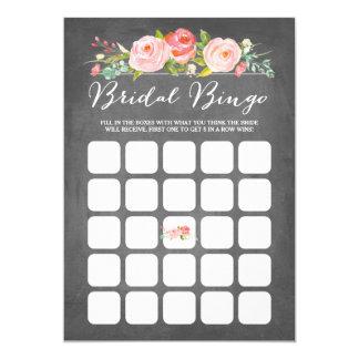 Bingo nupcial de la ducha de la rosaleda invitación 12,7 x 17,8 cm