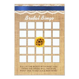 Bingo nupcial de la ducha del cordón y de la invitación 8,9 x 12,7 cm
