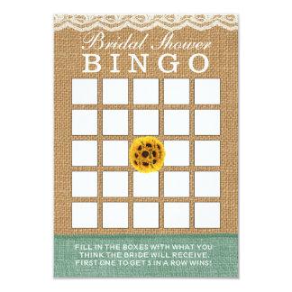 Bingo nupcial de la ducha del girasol de la invitación 8,9 x 12,7 cm