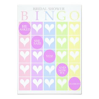Bingo nupcial de la ducha invitación 12,7 x 17,8 cm