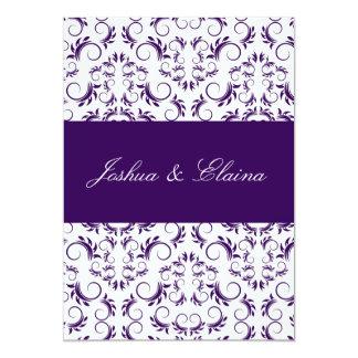 Bingo nupcial divino blanco púrpura 311 invitación 12,7 x 17,8 cm